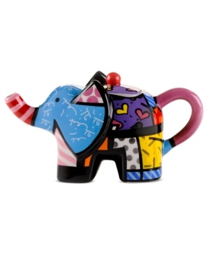 Romero Britto Mini Elephant Teapot - not normally one for so many colors, but how cute is this??