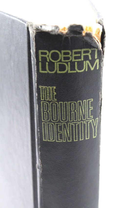 "FIRST EDITION ""The Bourne Identity"" by Robert Ludlum (1980) - hardcover book, Jason Bourne"