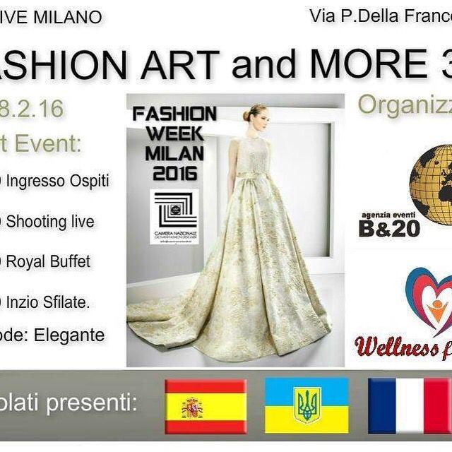 """""""FASHION ART and MORE 3.0"""" terza edizione organizzato da: Sabrina Spinelli Wellness for You Fashion e B&20. Per tutti gli Stilisti, Brand e Sponsor che vogliono partecipare alla serata potranno contattarmi a: info@wellnessxyou.it ---3387975351 https://www.facebook.com/events/213033542368048/"""