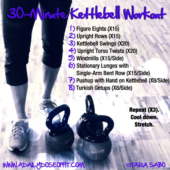 A Daily Dose of Fit: Sore Calf Muscles and a #Kettlebell Workout