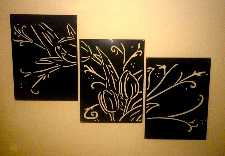 Tulip Three Piece Wall Art
