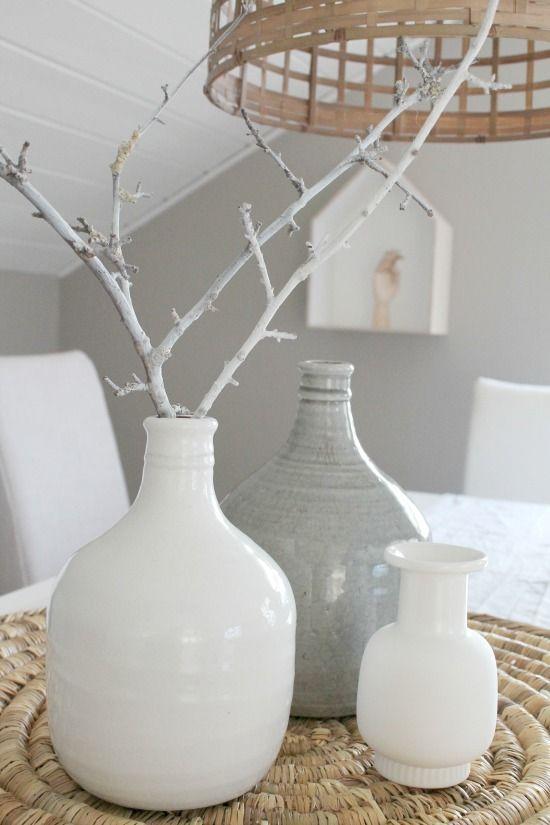 #Pintratuin mooie vazen in grijs en wit.