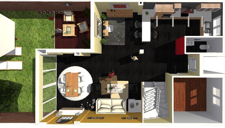 Opción 4 - Vista general de la planta baja