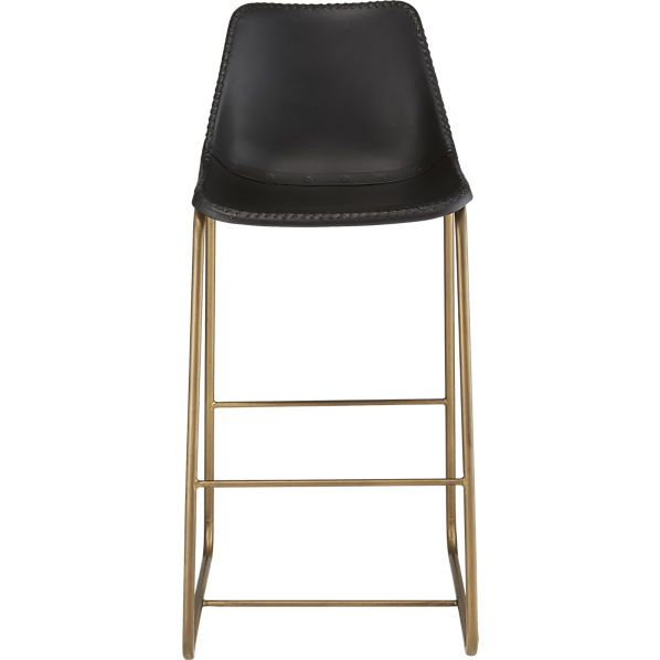 Roadhouse Black Leather 30 Quot Quot Bar Stool Leather Bar