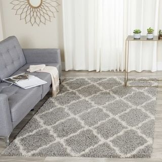 Shop for Safavieh Dallas Shag Grey/ Ivory Rug (5'1 x 7'6). Get free shipping at Overstock.com - Your Online Home Decor Outlet Store! Get 5% in rewards with Club O!