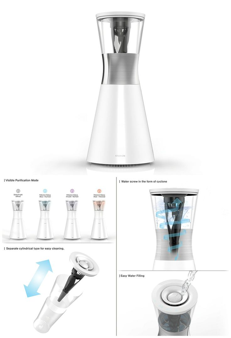 The Dual Humidifier Air Purifier takes inspiration from mother nature's very own air-filtering system. Read more at Yanko Design