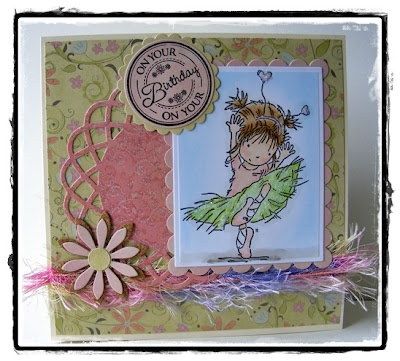 Lili of the Valley little ballerina and for you circular sentiments.  First Edition Paper, My Favorite Things die-namics