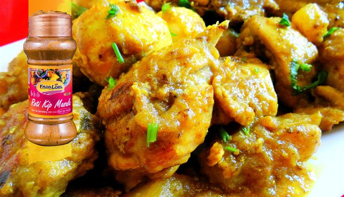 Surinaams eten – Kip masala met aardappel en hardgekookte eieren