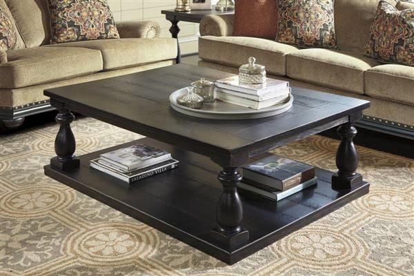 Mallacar Vintage Casual Black Rectangular Cocktail Table