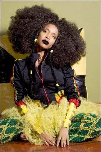 Erykah Badu She totally Bad-Ass! I love her!