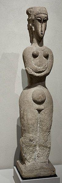 Amedeo MODIGLIANI, Standing nude// Joseph J Abhar #sculptures
