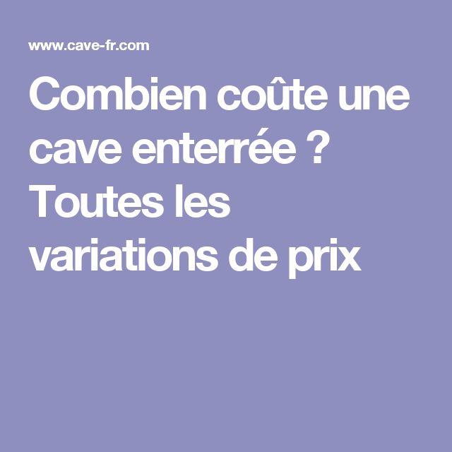 25 best ideas about cave enterr e on pinterest for Combien coute une piscine enterree
