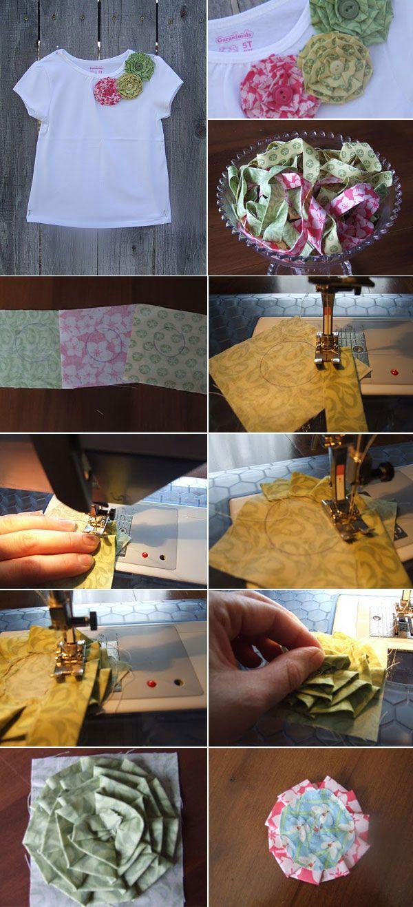 Maos que Criam by Maria Luiza: Flores com sobras de tecidos