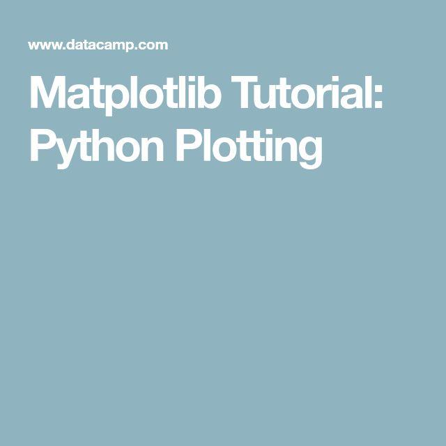 Matplotlib Tutorial: Python Plotting