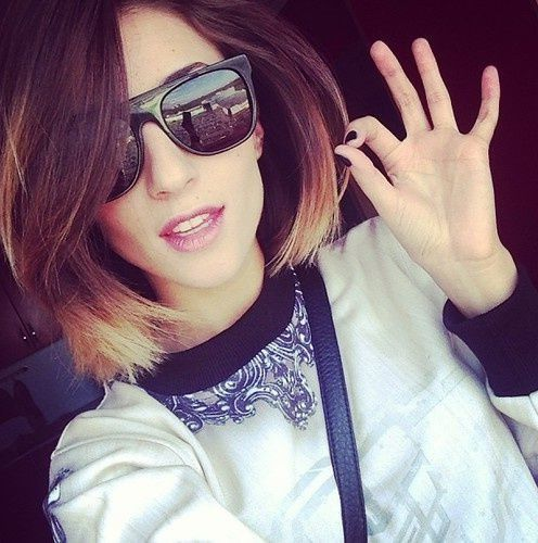 Maybe one day I'll get ballzy enough to bleach my hair like this. So much love. Cool Ombre for Short Hair.