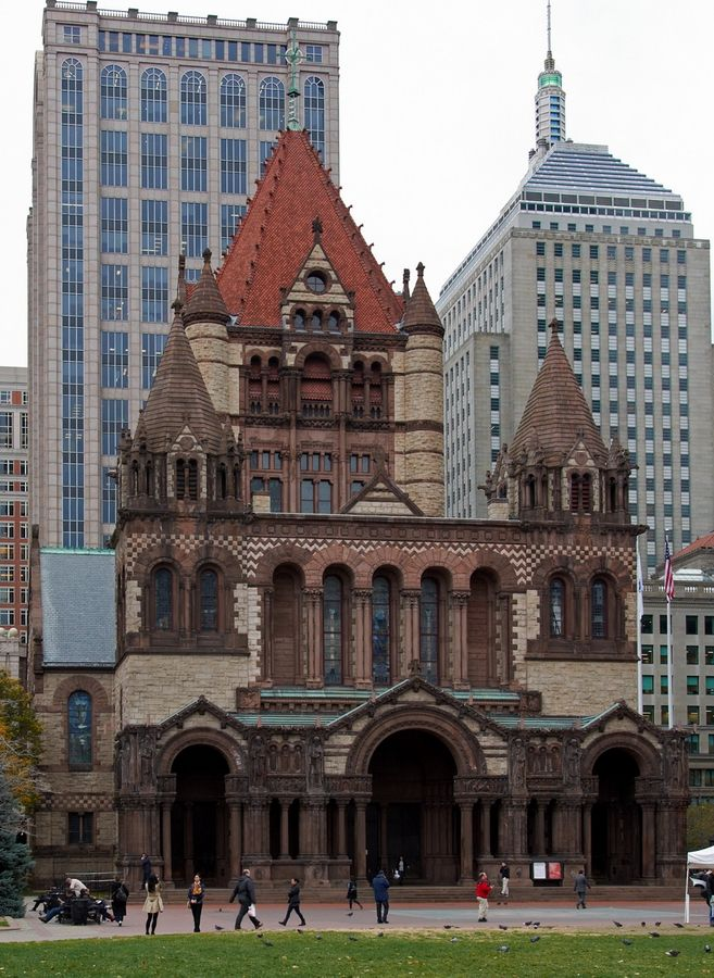 Trinity Church. Boston, Massachusetts. Attended service here while on vacation. Praise God for the blessings in my life!