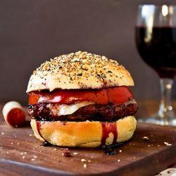 Merlot Burgers on Everything Buns: Burgers Buns, Burgers Yummy, Recipe, Food, Cabernet Burgers, Wine Burgers, Merlot Burgers, Burger Buns, Red Wines