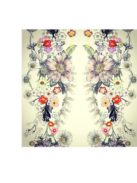 'Bye Bye computer! For this season all our prints have been drawn by hand in our studio #LFW #BehindTheSeams'Get the #SS14 catwalk latest
