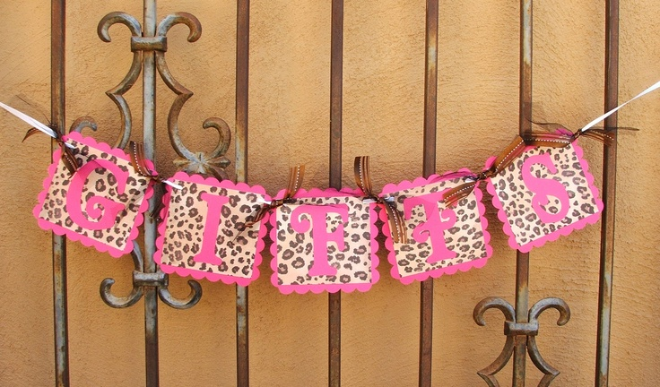 GIFTS+BANNER++Hot+Pink+&+Leopard+Party+Banner+by+JustBeccuz,+$9.95