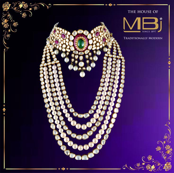 Enamoring details that are hard to overlook #MBjIndia #MBj #luxury #polkidiamonds #necklace #jewellery #bridal