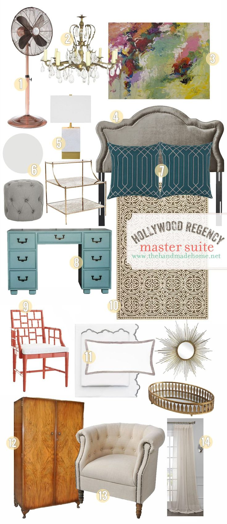 hollywood regency master suite - the handmade home