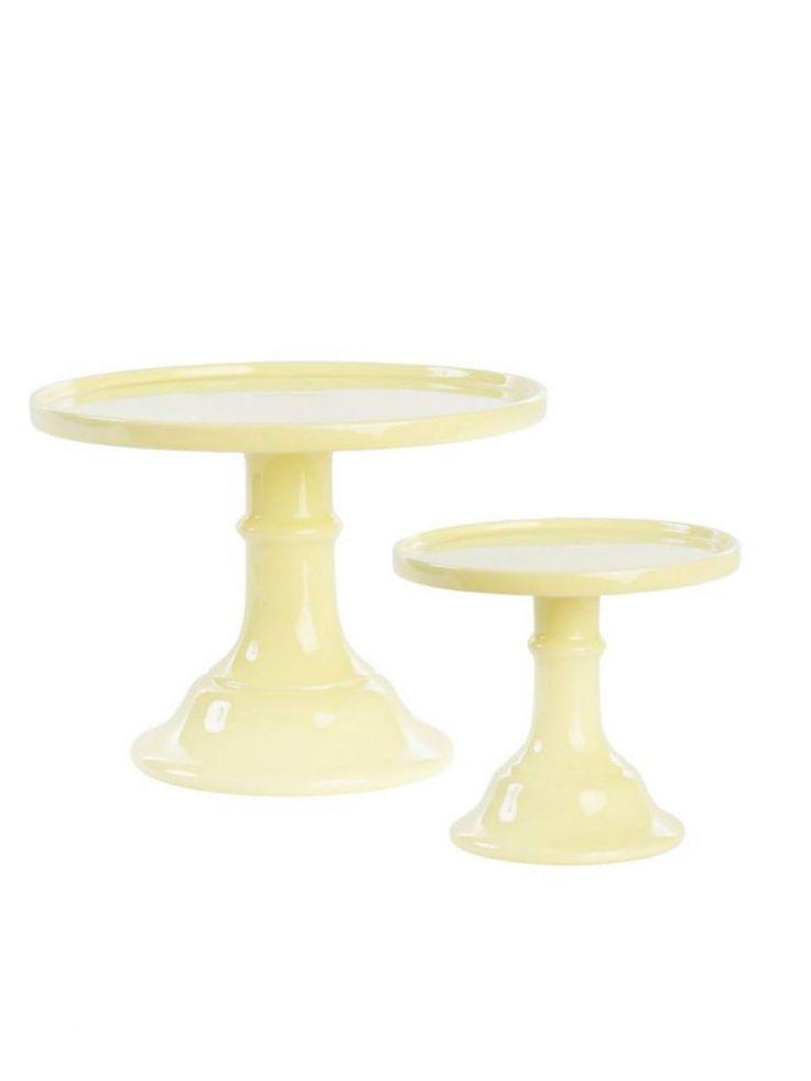 Image of Prato de Bolo com Pé Yellow (1 unidade)