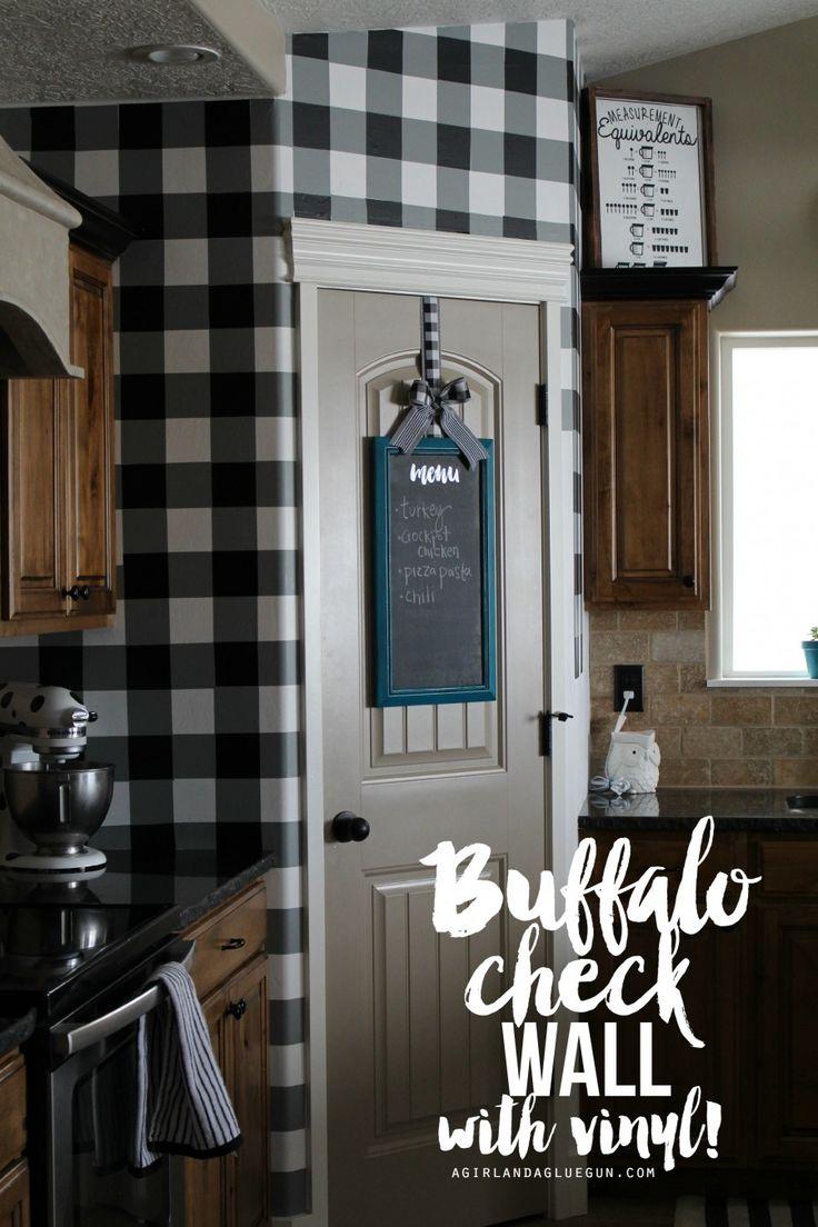 Buffalo Check Wall With Vinyl