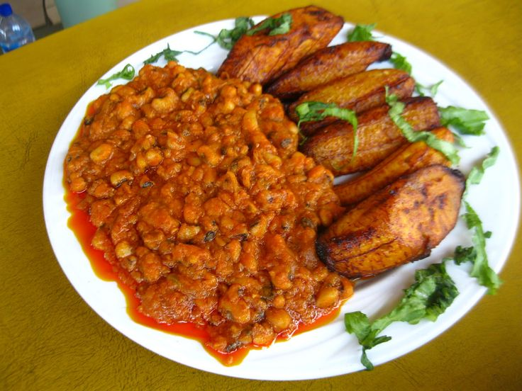 red red ghana - Google Search. Black eye peas and fried plantains. At windmill cafe behind kingsway, kumasi
