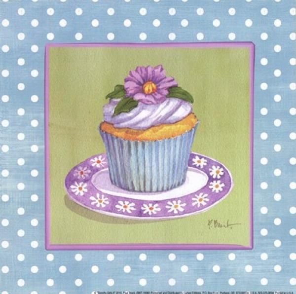 Cupcake Dekupaj Resimleri