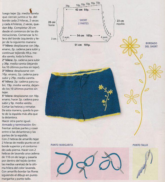 Inspirabiate: Bikini y short tejidos