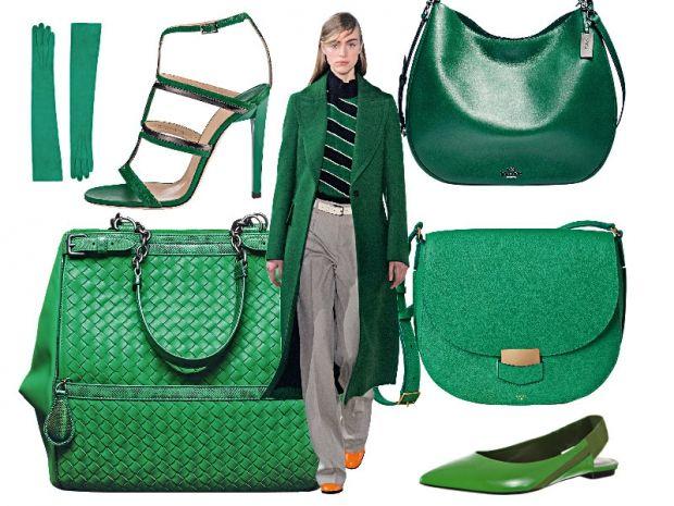 Go Green! Guanti, borse e scarpe verdi per l'Autunno Inverno 2015/2016