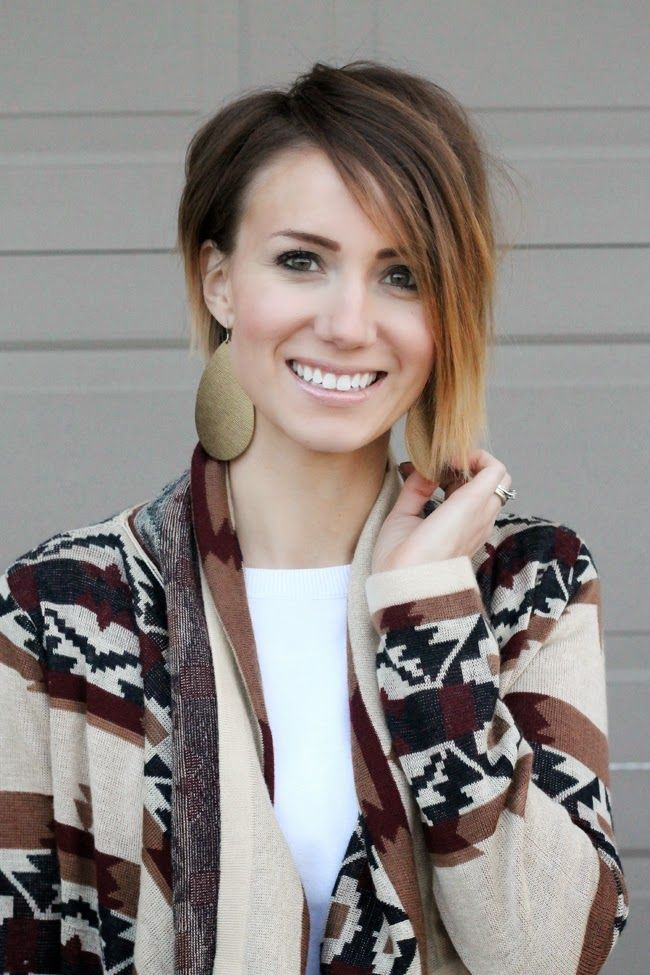 Diy Ombre Bob With An Asymetrical Cut Hairstyle Pinterest
