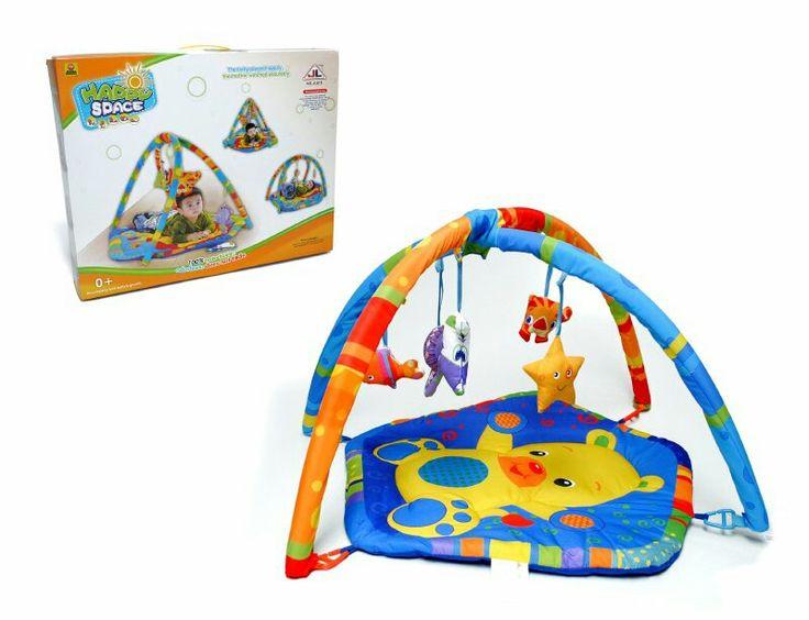 Gimnasio osito,  figuras con sonido en móvil,  estimula los sentidos del bebé,  liviano y fácil de transportar.