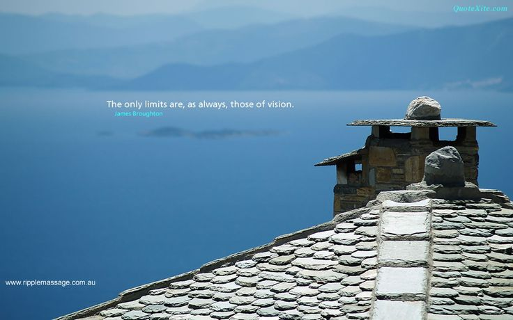 The only limits there are, as always, are those of vision  www.ripplemassage.com.au  #vision #nolimits #massage #spa