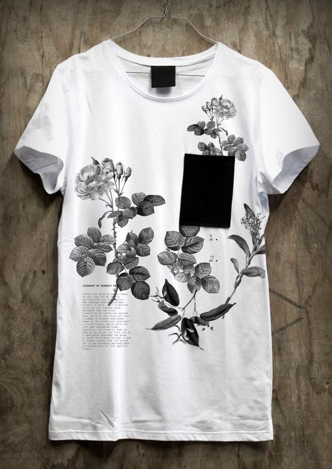 Awesome Floral Positional Printed Tee / Sense Studio #flowers #botanical #tshirt # Tee #
