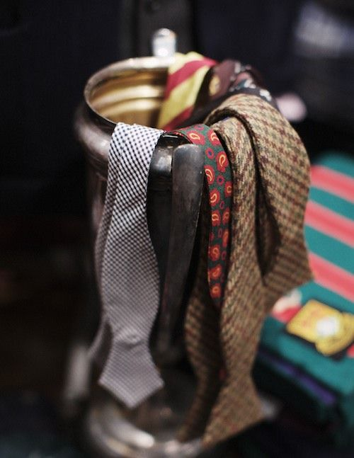 Title: Bowtie Presentation Author: thetieguy DoC: July 22, 2012 This pin fits into the theme of unique or uncommon ties not because of what has been done to them but because of how they look. In particular, the paisley and tweed bow ties stand out to me because paisley is not something that I see very often in ties and the tweed is something that I don't think I have ever seen in tie form.