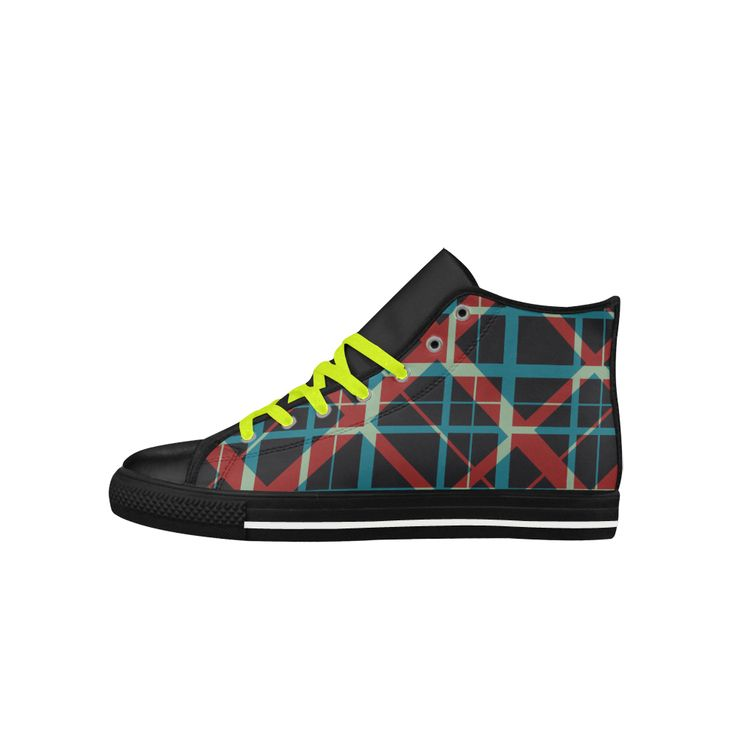 Plaid I hipster style plaid pattern Aquila High Top Action Leather Shoes  by Scar Design #shoes #womenshoes  #cheapshoes #uniqueshoes #plaidshoes #hipster #leatherlowtopshoes #hightops #hipsterhitopshoes #plaidhightopshoes #funky #funkyshoes #womenshitops #everydayshoes #hipstershoes #hipsterstyle #plaid #coolshoes #buyshoes