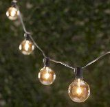 Spring Rose(TM) 25 Clear Globe Patio String Lights . These Are Great For Christmas, Holidays, Weddings and Should Be Part of Your Party Supplies.