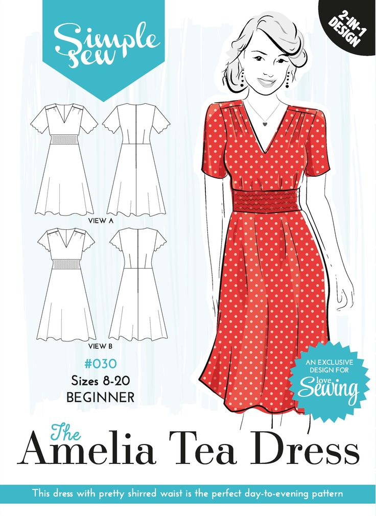 Love Sewing - Issue 28 - Download your free templates free pattern - 30 Amelia Tea dress envelope OL