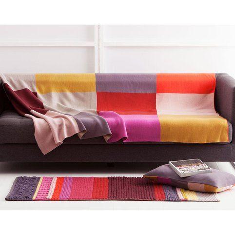 Plaid canapé tricot BECQUET - Imprimé 2- Vue 1