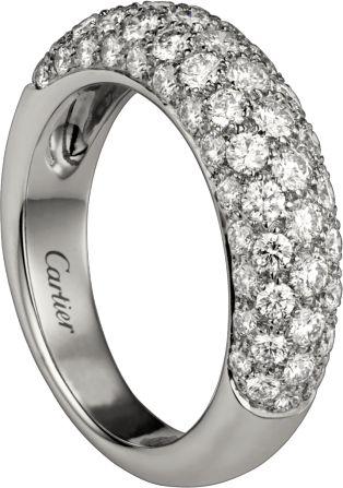 $10500 Cartier Classic Diamond ring White gold, diamonds
