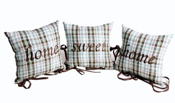 Home Sweet Home Mountains Heart Collection by MonartHomeDecor, $49.00; pillow, home decor, pillows set