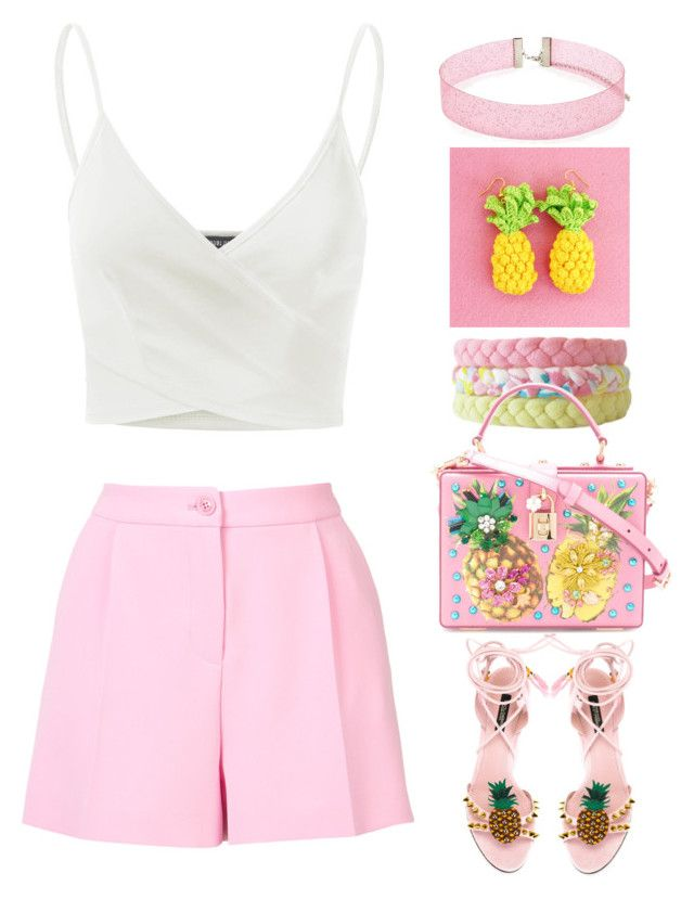 Pineapple by gicreazioni on Polyvore featuring Doublju, Boutique Moschino, Dolce&Gabbana and Forever 21