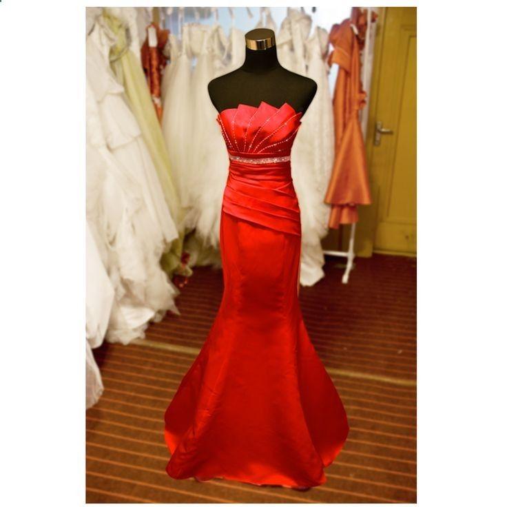 Strapless Trumpet / Mermaid charming bridesmaid dress
