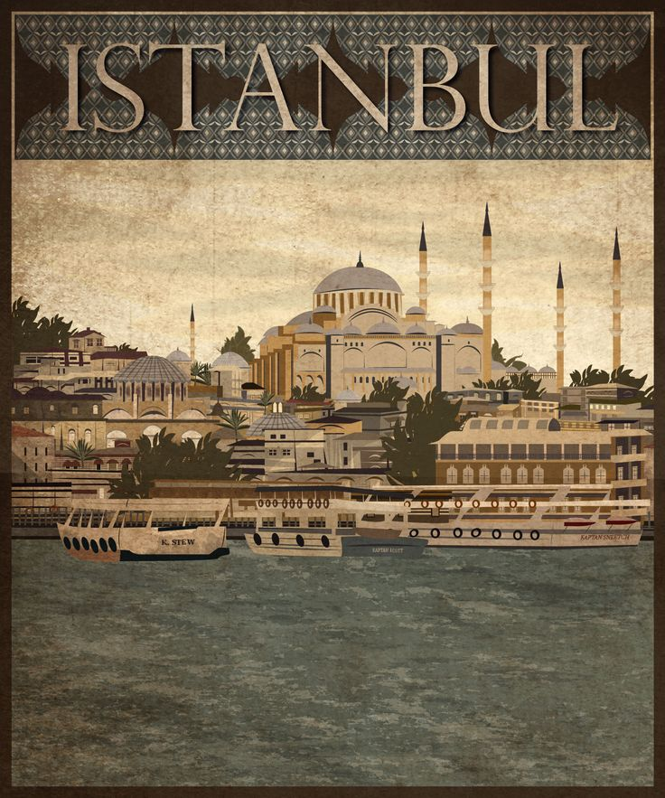 """Check out this @Behance project: """"Istanbul Travel Poster"""" https://www.behance.net/gallery/55369867/Istanbul-Travel-Poster"""