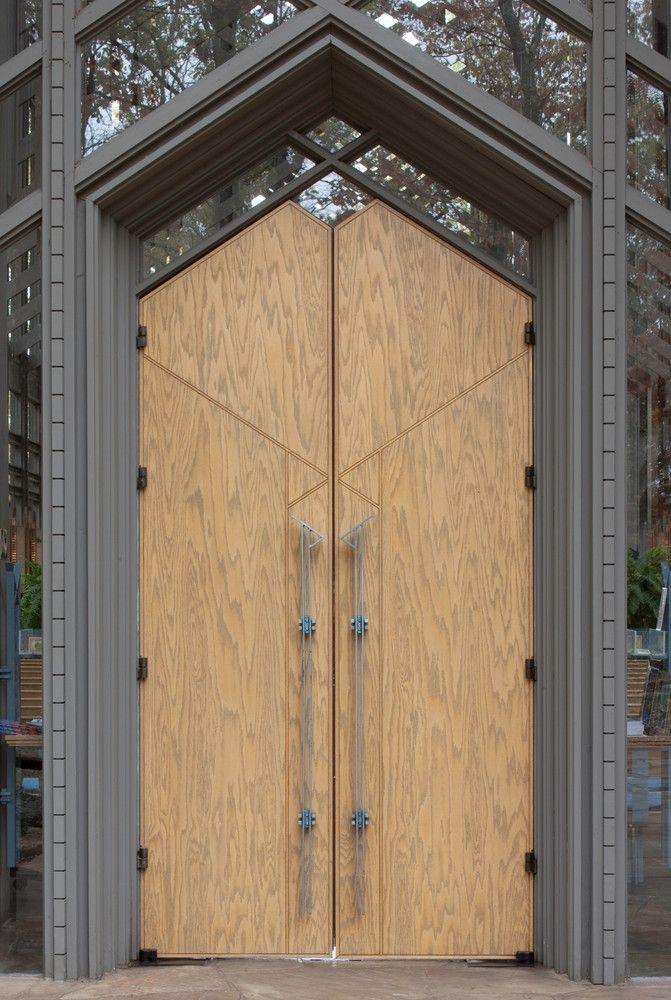 Galeria De Clasicos De Arquitectura Capilla Thorncrown E Fay Jones 11 Puertas De Madera Capilla Criptas