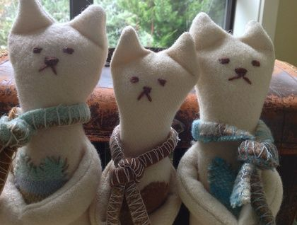 Sweetheart+Toy+wool+cat+upcycled+blanket