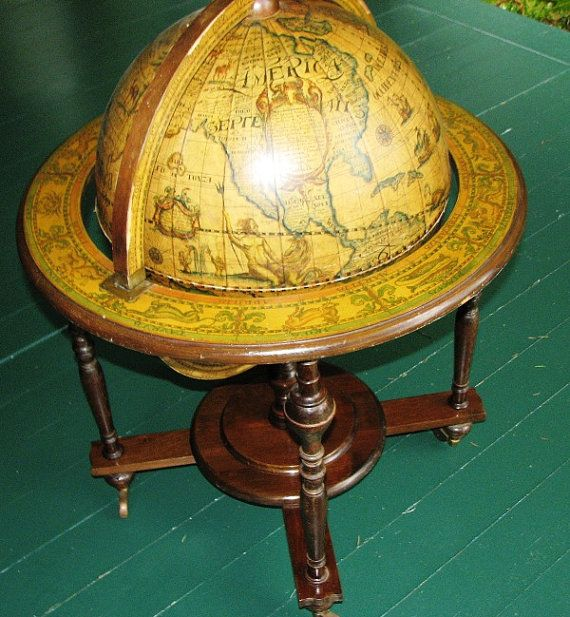 Amazing Old World Nautical Globe Bar Cart Circa By LegendaryMerchandise, $280.00