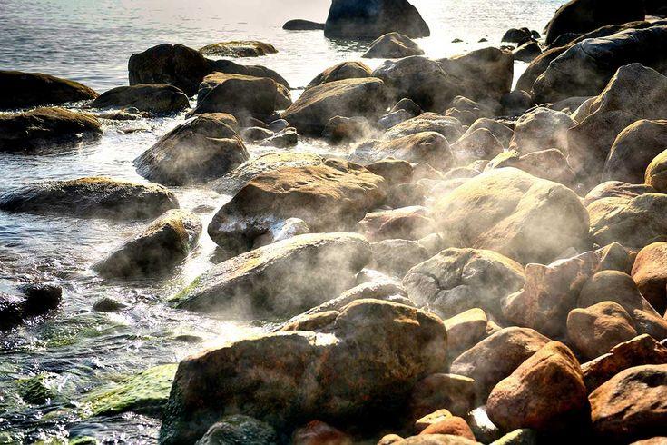 Thermal springs in Ikaria island, Greece