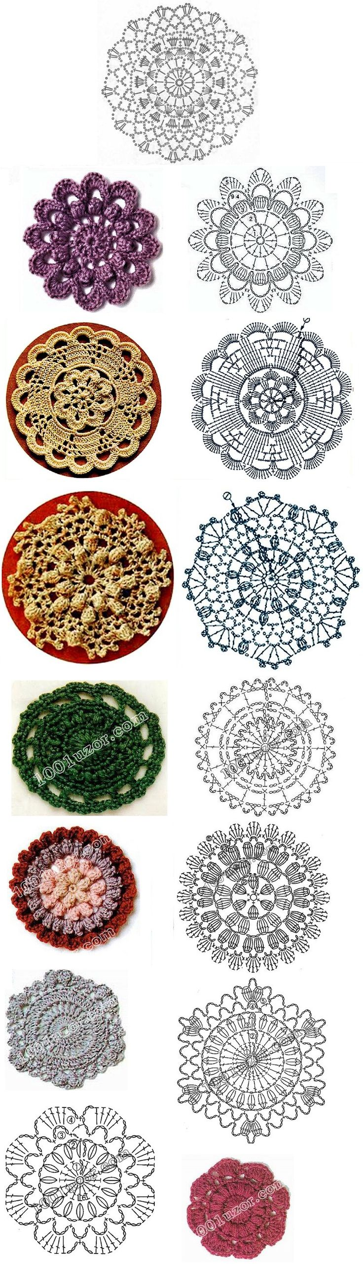 Beautiful crochet motifs!                                                                                                                                                                                 More